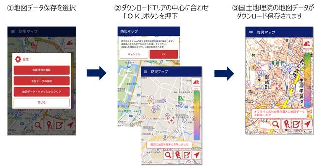 ローカル地図の保存イメージ